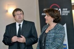 Urbán Péter (HTA elnöke), Fazilet Cinaralp (ETRMA főtitkára)