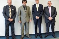Ferenc Pausz (Managing Director of GRSP Hungary), Dániel Rábai (President of HTA), Balázs Tokár (President of GRSP Hungary), Péter Morenth (Executive Chairman of HTA)