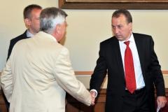 Matej Zavrl (HTA elnöke) , Berényi János (HITA elnöke)