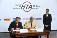 Matej Zavrl (President of HTA), János Berényi (President of HITA)