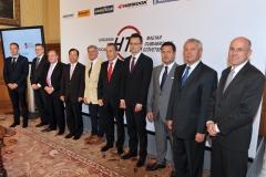 Ádám Gosztonyi (lawyer), Tamás Bakonyi (Vredestein), Péter Morenth (executive chairman of HTA), Lee Sang Il (Hankook), János Berényi (chairman of HTA), Matej Zavrl (chairman of the HTA), Péter Szijjártó (appointed foreign and foreign minister) Gergely Buczkó (Pirelli) József Orosz (Michelin), Elemér Szabó (Continental)